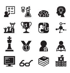 Genius smart icons set vector