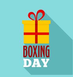 gift boxing day logo set flat style vector image