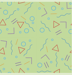 green seamless pattern with with geometric vector image