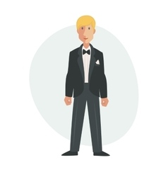 Groom flat Isolated vector image