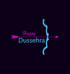 happy dussehra bow and arrow holiday symbols of vector image