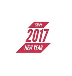 Happy new year 2017 theme vector