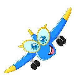 Happy plane cartoon vector