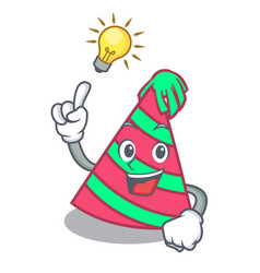 have an idea party hat mascot cartoon vector image