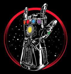 Heavy metal universe vector