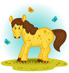 Horse in the meadow vector