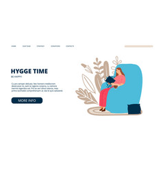 hygge landing page vector image