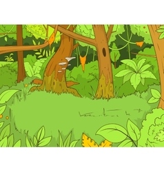 Jungle forest cartoon vector