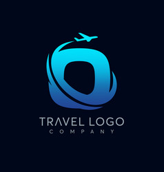 letter o tour and travel logo design vector image