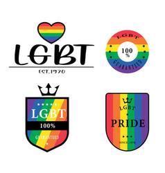 lgbt pride symbol design logo vector image
