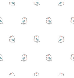 little birds simple line seamless pattern vector image