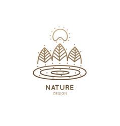 Logo simple landscape vector