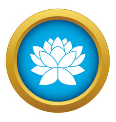 lotus flower icon blue isolated vector image