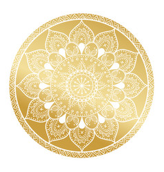 mandala patternarabic vintage decorative ornament vector image