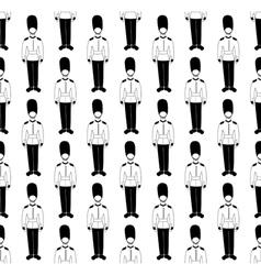 monochrome guardsmen vector image