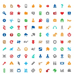 Multicolored icons and signs vector image