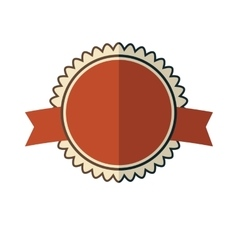New red vintage badge vector
