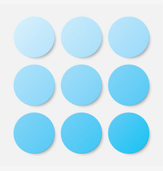 nine blue circles button circle banner vector image