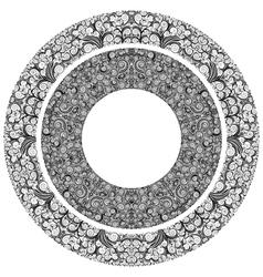 Ornamented circles vector