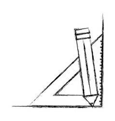 pencil utensil icon vector image