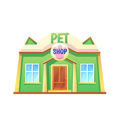 pet shop store with pets vector image