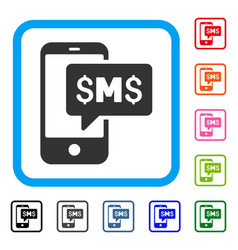 phone sms framed icon vector image
