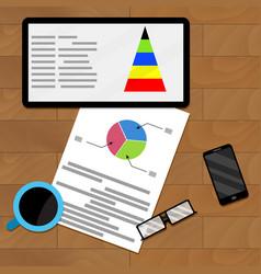 Planning infochart on tablet vector