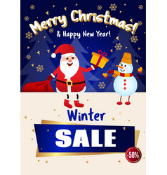 Poster merry christmas sale up to 50 off santa vector