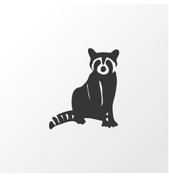 raccoon icon symbol premium quality isolated coon vector image
