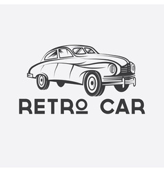 Retro car design template vector