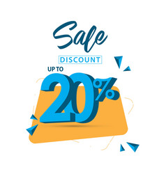 Sale discount up to 20 template design vector