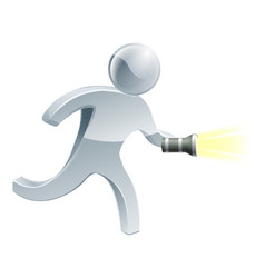 Searching flashlight man vector