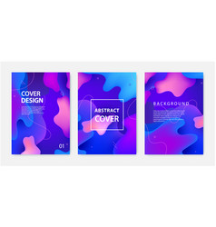 set fluid banners covers flyers vector image