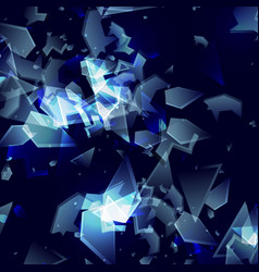 Shards broken glass abstract ct explosion vector