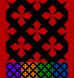 simplified design of a classic folk textile vector image