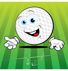Smiling golf ball vector