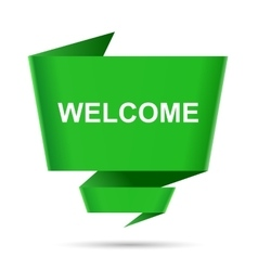 Speech bubble welcome design element sign symbol vector