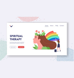 spiritual therapy landing page template mental vector image