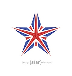 star made of crystals with United Kingdom flag vector image