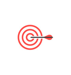 Target graphic design template isolated vector