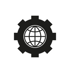 The website optimization icon WWW and browser vector image