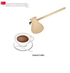 Traditional Turkish Coffee Popular Drink in Turke vector image