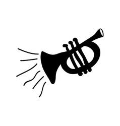 trumpet instrument icon image vector image