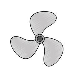 turbine fan isolated icon vector image