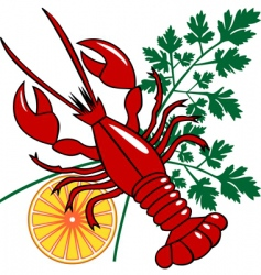 vector seafood dinner vector image