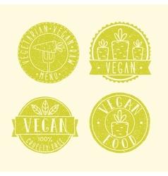Vegan food badges vector image