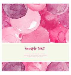 Watercolor pink greeting card vector