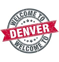 Welcome to Denver red round vintage stamp vector