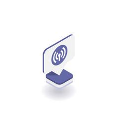 wireless and wi-fi icon symbol vector image
