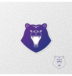 Abstract logo bear vector image